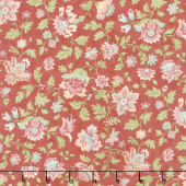 Porcelain - Flourish Rose Yardage