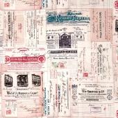 Dapper - Vintage Receipts Multi Yardage