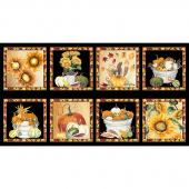 Fall Delight - Harvest Blocks Black Panel