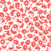 Back Porch - Blooming White Red Yardage
