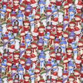 Christmas Novelties - Caroling Kitties Multi Yardage