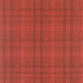 Woolies Flannel - Windowpane Dark Red Yardage