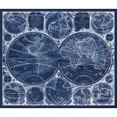 Vintage Blueprints - Map Blueprint Digitally Printed Panel