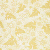 Holiday Flourish 12 - Branches Ivory Metallic Yardage