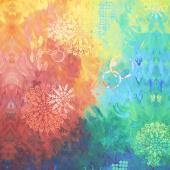 Pizzazz - Paradise Rainbow Ombre Multi Digitally Printed Yardage