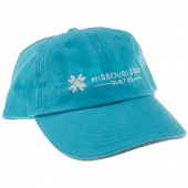 Twill Cap - Aqua with Missouri Star Logo