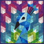 The Peacock English Paper Piecing Kit