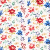 Garden Charm - Large Floral Cream Yardage