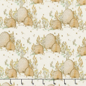 Tell the Bees - Bee Hives Cream Yardage