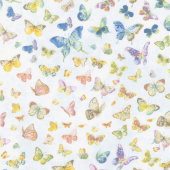 Butterfly Haven - Butterflies Allover Blue Yardage