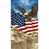 Stonehenge Stars and Stripes VI - Mt Rushmore Navy Panel