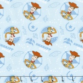Toy Story - Woody Light Blue Yardage