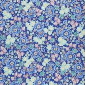 Florentine Garden - Floral Jewel Royal Metallic Yardage