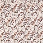 You Had Me at Wine - Wine Labels Beige Multi Digitally Printed Yardage