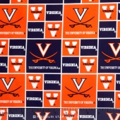 College - University of Virginia Allover Yardage