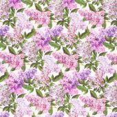 Chelsea - Lilacs White Multi Yardage