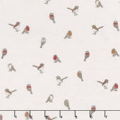 Woodland Pitter Patter - Chirp Light Taupe Yardage