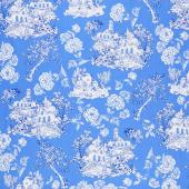 Maison Des Fleurs - Toile Garden Blue Yardage