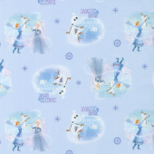 Disney Olaf's Frozen Adventure - Season to Celebrate in Blue Yardage