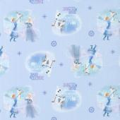 Disney Olaf's Frozen Adventure - Season to Celebrate in Blue Yardage