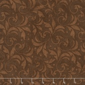 "Wilmington Essentials - Vintage Scroll Brown 108"" Backing"