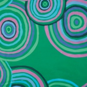 """The Kaffe Fassett Collective - Circles Green 108"""" Wide Backing"""