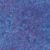 Mystery Batiks - Scrolling Blueberry Yardage