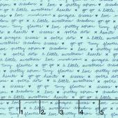 A Little Sweetness - Sweetness Text Mint Yardage