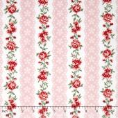 Simply Chic - Flora Eye Ribbon Pink Yardage