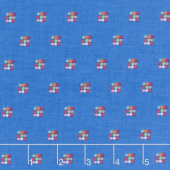 Simply Happy - Honeycomb Blue Yardage