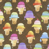 Sweet Treats - Wafer Cone Chocolate Yardage