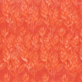 Punch Batiks - Ginger Flower Deep Coral Yardage
