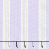 Twilight Garden - Awning Stripe Lilac Yardage