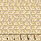 Camp - A - Long Critters - Snails Tan Yardage