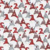 I'll be Home for Christmas - Gnomes Multi Yardage