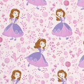 Sofia the First - Meadow Light Pink Yardage