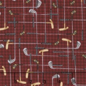 On the Green - Clubs Burgandy Yardage