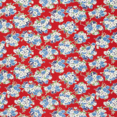 Good Times - Bouquet Red Yardage
