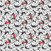 Disney Minnie Mouse Dreaming in Dots - Minnie Tossed White Yardage