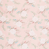 Bliss - Main Blush with Rose Gold Sparkle Yardage