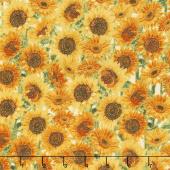 Giving Thanks - Sunflowers Harvest Metallic Yardage