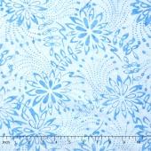 Tonga Batiks - Indigo Dreams Fairy Flower Sky Yardage