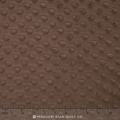"Cuddle Embossed Dimple - Brown 60"" Minky Yardage"