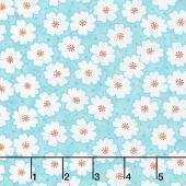 Badda Bing! - Cherry Blooms Turquoise Yardage