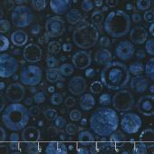 Artisan Batiks - Color Source 7 Circle Dots Indigo Yardage