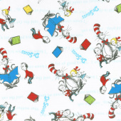 The Cat in the Hat - Books Reading White Yardage
