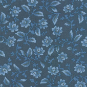 Nancy's Needle 1850-1880 - Garden Splendor Indigo Yardage