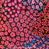 Kaffe Collective - Spicy Palette Persian Garden Black Yardage
