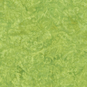 Fairy Slipper Batiks - Paisley Floral Lemon Lime Yardage
