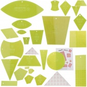 "Missouri Star Templates ""Motherload"" Bundle - 21 MSQC Templates and Rulers PLUS 2 Sizes of Triangle Piecing Papers (23 pcs)"